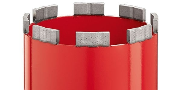 Equidist segment of Hilti diamond core bit