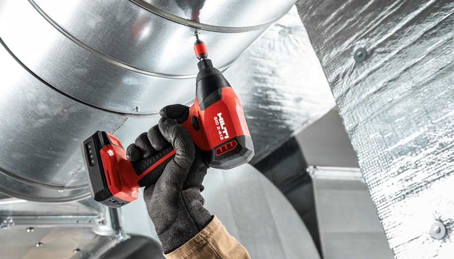 The Hilti range of 12V cordless drills, screw drivers, and impact drivers.