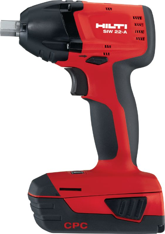 SIW 22-A Universal class 22V cordless impact wrench with 1/2 ball detent pin connection end, brushless motor and three-speed gearing for reliable anchoring and bolting
