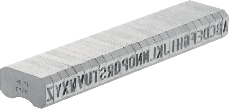 X-MC S 5.6/6 Steel marking stamps Sharp-tipped, narrow letter and number characters for stamping identification markings onto metal