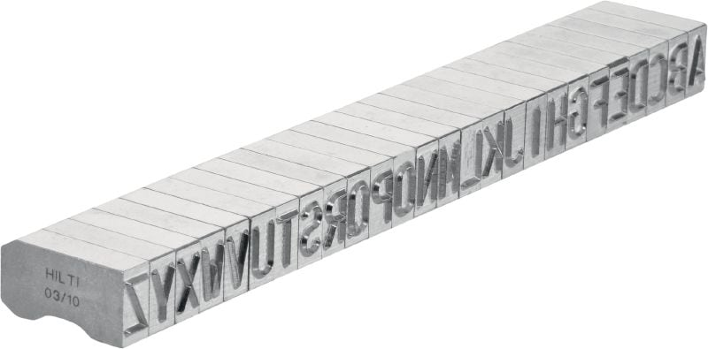 X-MC S 8/10 Steel marking stamps Sharp-tipped, wide letter and number characters for stamping identification markings onto metal